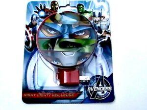 Marvel THE AVENGERS Plug-in NIGHT LIGHT Lamp 3 Varieties NEW!