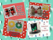Christmas Bundle Templates - Snowman Hat, Rudolph, Wreath and Santa's Tum