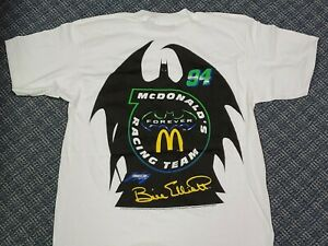 Vintage Batman Forever Bill Elliott McDonalds Nascar T Shirt New Sealed Bag L/XL