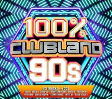 Various Artists - Clubland 100% 90s NEW 4xCD
