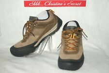 EDDIE BAUER Mens Hiking Shoes Sneakers Taupe Suede Leather Trenton Sz 9 * VG+++