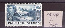 FALKLAND ISLANDS George VI SG158c  49 ptg. 1/- deep dull blue L/hinged