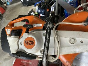 "STIHL TS420 GASOLINE CONCRETE SAW W/ 14"" BLADE & WET KIT"