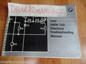 1983 BMW 733i Electrical Troubleshooting Service Manual OEM