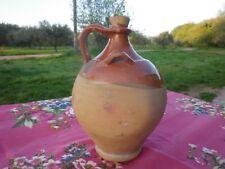 Petit Vinaigrier Terre cuite vernissée  XIX ème Salernes Sud de la France 24 cm
