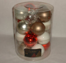 Vintage style Christmas tree 20 GLASS BAUBLE ORNAMENTS decorations A