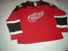 Detroit Red Wings Youth sz8 SEWN Jersey,REAL QUALITY,CUSTOMIZE NAME/NUMBER $35