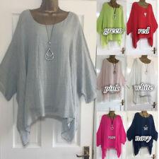 Plus Size Boho Women Long Sleeve Kaftan Baggy Blouse Loose Tee Shirt Tops Tunic