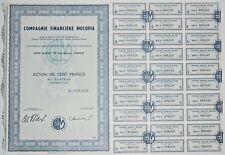 Action - Compagnie Financière MOCUPIA, action de 100 Frs N° 008229