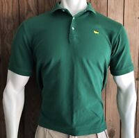 Masters Collection Men's Large Polo Shirt Green Pima Cotton Golf 60's Two-Ply
