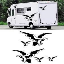 5x Car Stickers Black & White Eagle Style Decals for Caravan Travel Trailer Van