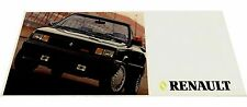 1987 Renault Jeep AMC Car Brochure - Alliance Convertible GTA Wrangler Eagle