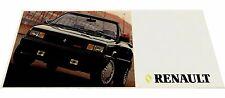 1987 Renault Jeep AMC Car Brochure - Alliance Convertible GTA Wrangler Eagle