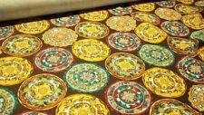 Scampoli in cotone stampato a motivi rotondi (Marte col.8)
