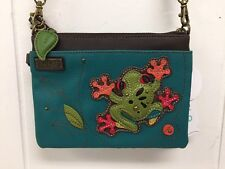 Chala Tropical Tree Frog Turquoise Mini Crossbody Bag Small Convertible New