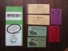 Vintage 1950's Disneyland Brochure Tickets Steamboat/Dumbo/Twain