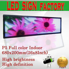 """Indoor LED SIGN Programmable FULL Color Display Open Message Sign Board 8""""x 26"""""""