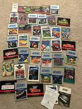 Lot of 39 Different Atari 5200 Manuals Star Wars Decathlon Star Trek River Raid