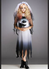Kids and Teen Size Gothic Zombie Bride Halloween Costume