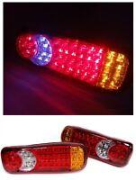 2x  Feux Arriere 12V 46 LED Lampes Stop REMORQUE CAMION FOURGON CARAVANE