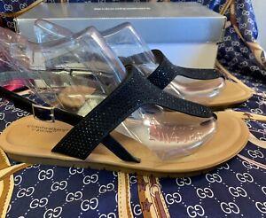 Women's Cloudwalker Avenue Gillian Sandals (Black) Size 11W