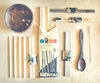 10 Reusable Drinking Straws + Free Cleaner / Sustainable & Organic Bamboo Straws