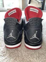 Nike Air Jordan 4 Retro 'Bred' 2012 Men's Size 13 Black/Red 308497-089