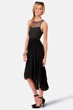 LADAKH 'Upstate' black high low dress Size 8 BNWT RRP $99