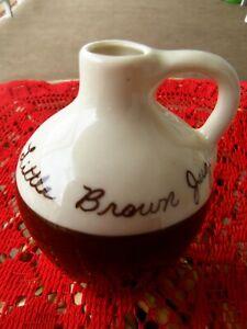 Vintage hand painted Little Brown Jug restaurant Gatlinburg Tennessee pottery