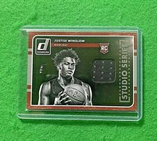JUSTISE WINSLOW PATCH ROOKIE CARD MIAMI HEAT RC 2015-16 DONRUSS BASKETBALL RC