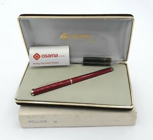 Osama vintage 1985 rare Revolver-85 chinese lacquer special roller pen NEW in...