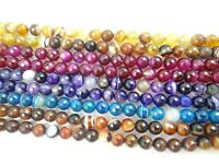 """Dragon Veins Faceted Agate  Round Jewelry Making Gem Loose beads 10mm 15"""""""