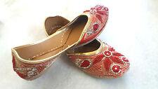 US 7.5 Indian Traditional Shoes Bollywood Style Mojari Khussa Sandal Juti