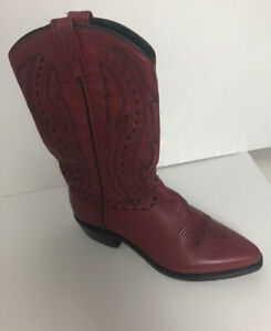 Abilene Red Women 9 cowboy boots Western Style Leather 9002 Excellent Condition