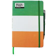 Ireland Flag Notebook - Hardback A5 - Irish Tricolour Journal - Irish Flag