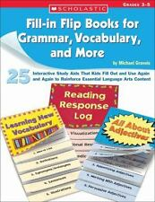 Fill-in Flip Books for Grammar, Vocabulary, and More: 25 Interactive Study Aids