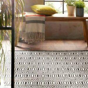 Origins Geo Flat Weave Woven Wool Berber Style Rug 80 x 150cm New