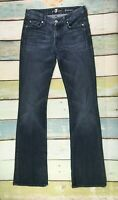 7 For All Mankind Size 27X34 Womens Kimmie BOOTCUT Jeans Dark Wash Stretch #J7