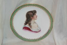 1910 Souvenir Collector Plate 31st Triennial Victorian Woman