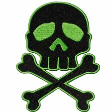 KREEPSVILLE 666 Skull Cross Bones Green Patch Iron Gothic
