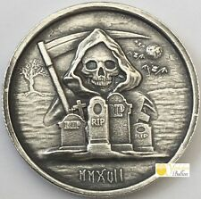 2017 1 oz Silver High Relief Round - The Grim Reaper