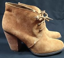 BCBG Booties Brown Suede Womens Sz 6 Excellent Condition