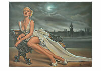 A3 LTD PRINT BY ELLECTRA /MODERN OIL LARGE CANVAS PAINTING BIG BEN LONDON