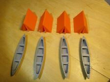 S SCALE    CAMPING SET    4 TENTS,   4 CANOES   L@@K  1:64  1/64  3D PRINTED