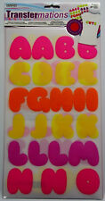 Iron-on Flocked Letters  2 Sheets  47 Pcs  1-1/2 Inches high Horizon  NIP