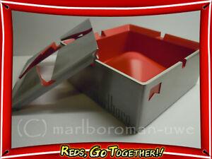 Toller MARLBORO Stern Design Aschenbecher Metall Rot/Grau 2teilig NEU OVP TOP!!!