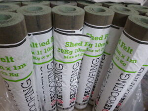 Shed Roofing Felt 10 metres x 1 metre Mineral Finish
