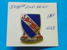 508Th Original Airborne Infantry Regimen Overseas Hat Insignia-Maker Marked