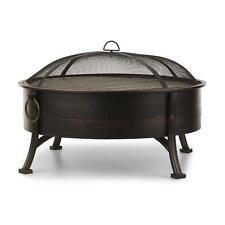 [OCCASION] Barbecue BBQ + Brasero jardin Feu de camp Foyer exterieur 80cm Grille