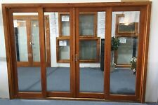 CEDAR SLIDING DOORS WITH FLY SCREEN, SOLID CEDAR TIMBER 2950W X 2100, IN STOCK